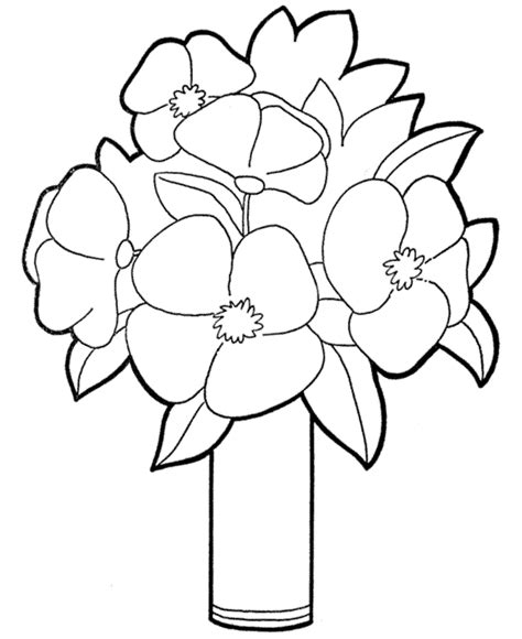 coloring pictures of flowers for preschoolers 2014 printable coloring page of flowers for preschoolers