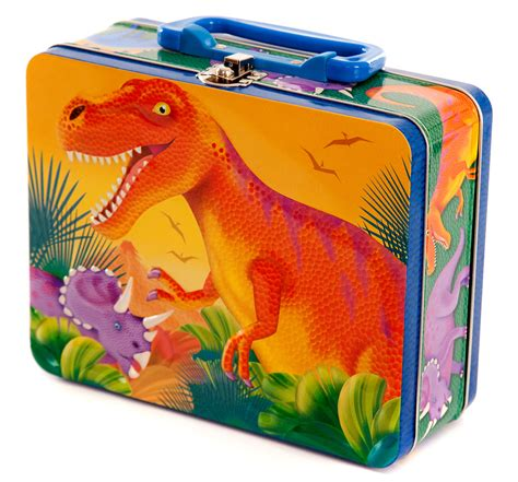 dinosaur box dinosaur metal lunch box