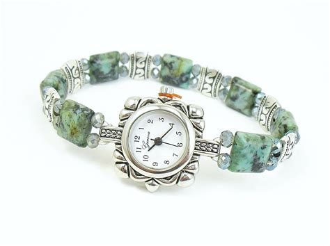 beaded watches beaded bracelet turquoise stretchy