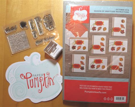 Paper Kit For - stin up paper pumpkin october 2016 kit fall shaker cards