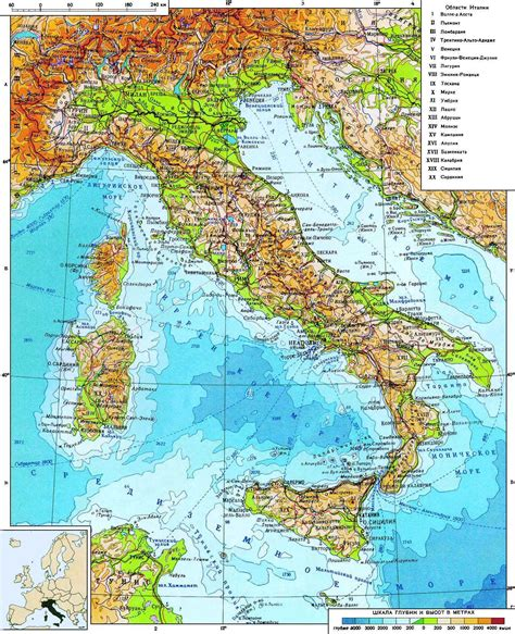 geographical map of italy maps of italy detailed map of italy in tourist