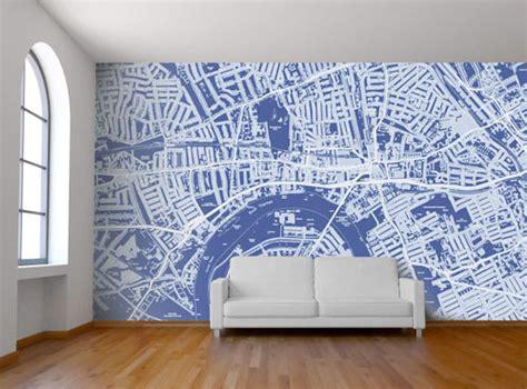 custom wall murals custom map wall murals by wallpapered design milk