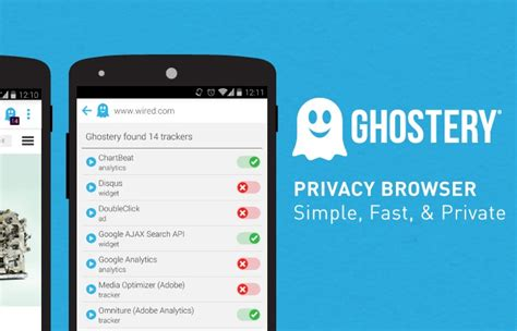 ghostery android android ghostery privacy browser lets you see and block tracking scripts
