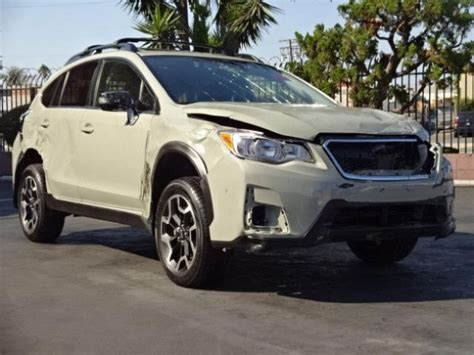wrecked subaru 2016 subaru crosstrek limited damaged salvage only 5k