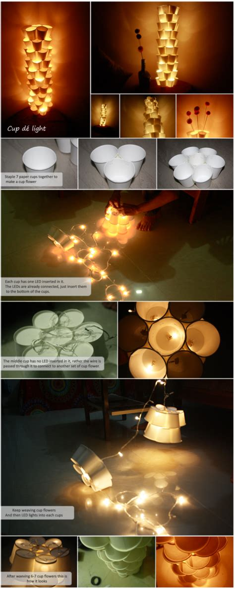 How To Make A Paper Light - cool diy cup tower ls with recycled paper cups how to