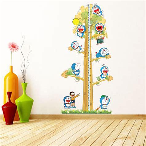 doraemon wallpaper for room 2pcs doraemon creative diy kids height chart wall stickers