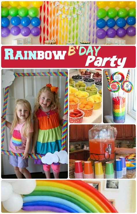 Rainbow Birthday Decorations by Rainbow Birthday Ideas 19 Diy Decor And Food