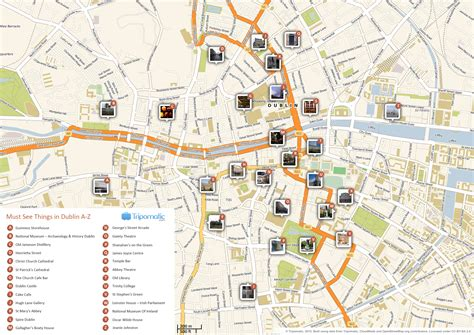 printable map dublin city centre dublin ireland facts map