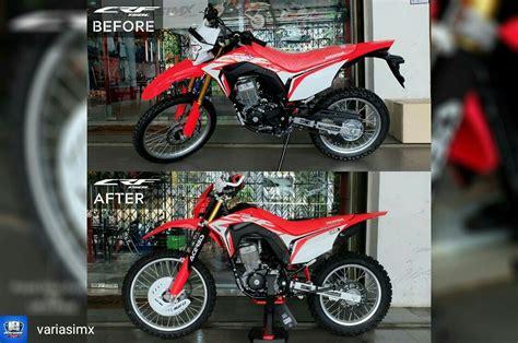 Guard Acerbis Buat Stang Bar Pitihhitamhijau Modifikasi Honda Crf150l Enduro Ala Vmx Semuanya Pakai