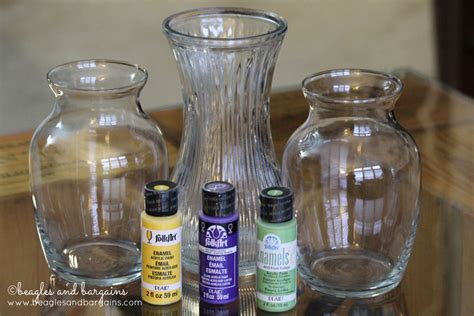 How To Paint Inside Glass Vases by Diy Upcycled Painted Glass Vase