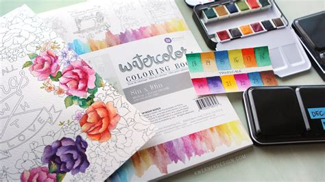 coloring book for watercolor new watercolor pan sets from prima coloring book review