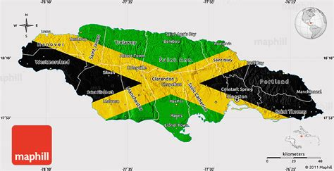 jamaica map map of jamaica from caribbean on line flag map of jamaica