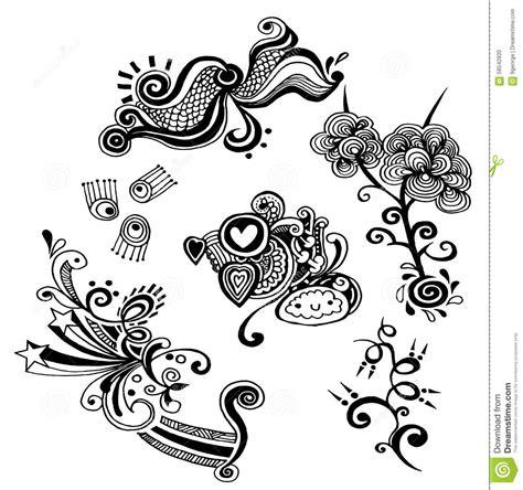 free vector doodle swirls swirls and curls vector doodle elements stock vector