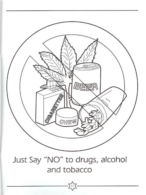 anti drug coloring pages az coloring pages