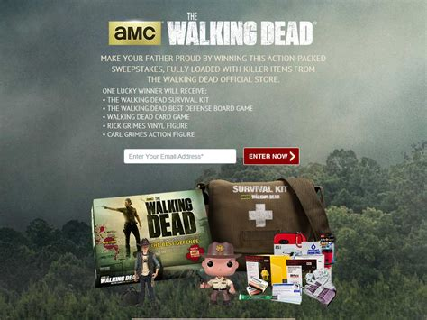Walking Dead Play Dead Sweepstakes - walking dead store remember dad with the dead giveaway sweepstakes