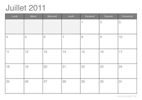 Calendrier Juillet 2011 Calendrier 2011 192 Imprimer