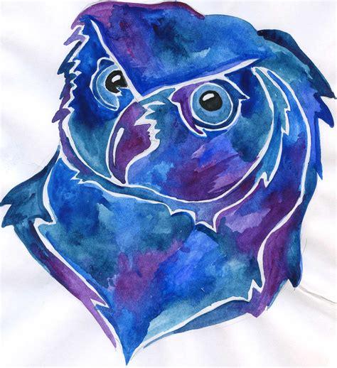 Piyama Owl Blue Piyama Owl blue owl by alexandra mad on deviantart