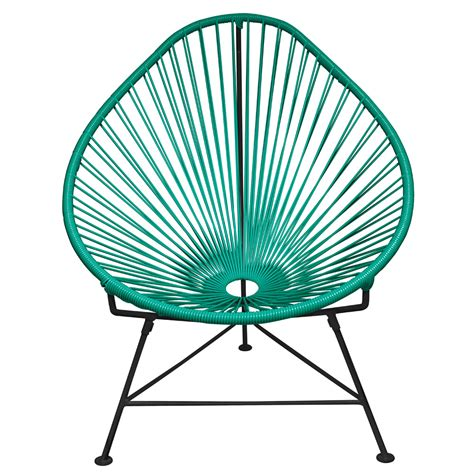 innit acapulco chair black modern acapulco chair with cord seat and black frame