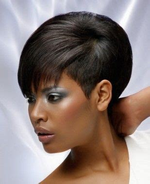 african american women hairstyle thats shaved on both side short black straight ethnic shaved sides relaxed