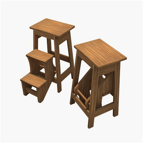 Flip Out Step Stool by Flip Out Step Stool 3d Model