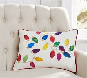 Pottery Barn Christmas Pillows Christmas Lights Pillow Cover Pottery Barn