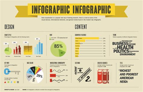 infographic of infographics design data analysis info