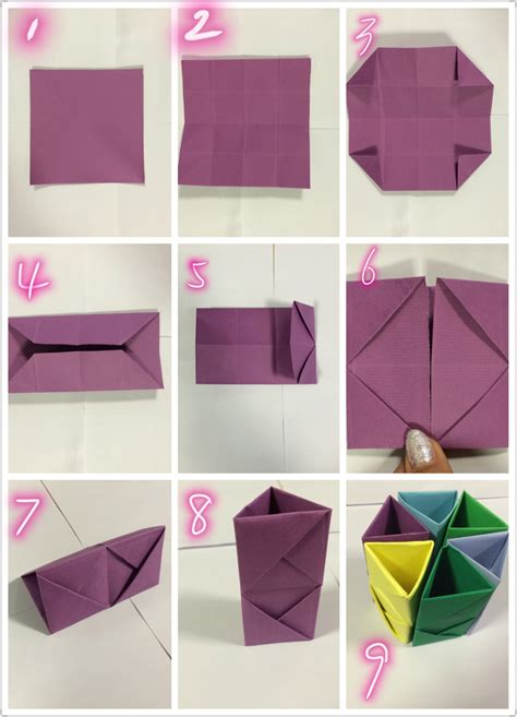 Easy Things To Make With Paper - 3 paper make your desk lovely oh every things