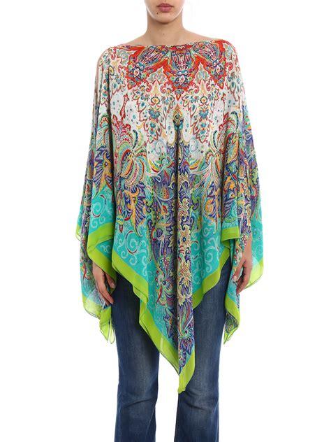 Etro Kaftan printed silk chiffon kaftan tunic by etro tunics ikrix