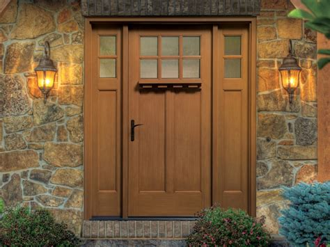 Craftsman Front Door With Sidelights Thermatru Classic Craft American Style Fiberglass Entry Door With Sidelights Cca260xc Eld E 4c