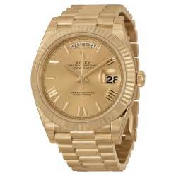 golden rolex rolex day date 40 chagne dial 18k yellow gold president