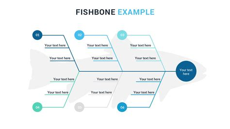 Fishbone Diagram Powerpoint Template Free Ppt Presentation Theme Ishikawa Diagram Ppt