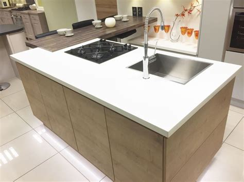 breakfast bar with sink modern kitchen island with hob sink and breakfast bar