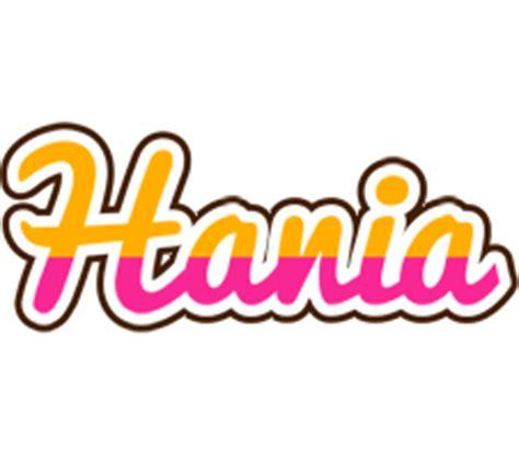 name style design hania logo name logo generator smoothie summer candy