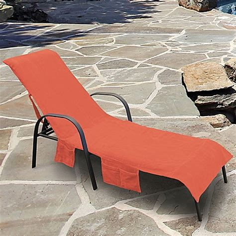 Lounge Chair Covers With Pockets by Ultimate Chaise Lounge Chair Cover With Storage Pockets