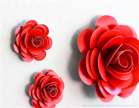How To Make Easy Paper Roses - how to make easy paper roses printable crush