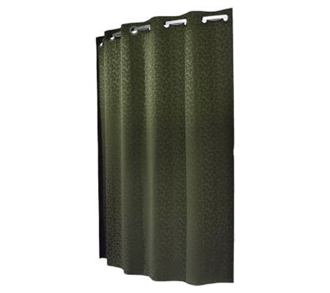 commercial shower curtains hookless commercial grade shower curtain w liner qvc
