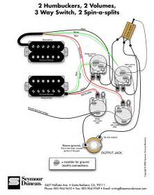 seymour duncan wiring diagram 2 humbuckers 2 vol 3 way 2 spin a splits tips tricks
