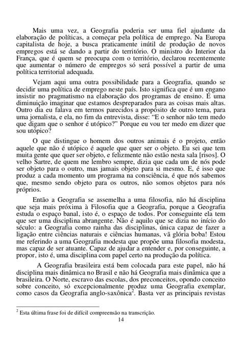 Geografia além do professor Milton Santos 1996