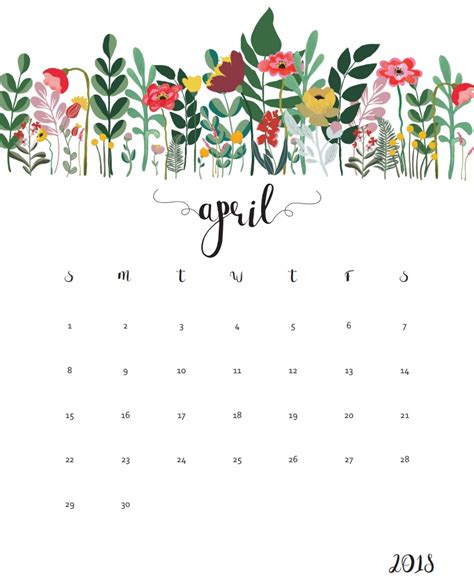 Galerry printable planner monthly calendar 2018