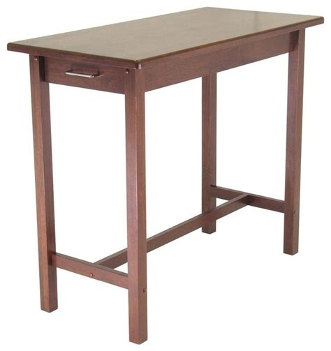 kitchen island pub table w 2 drawers in espre