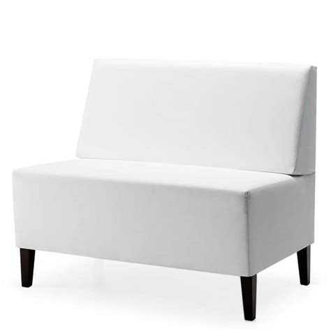 Low Upholstered Bench Modular Low Bench Wooden Upholstered Seat And Back