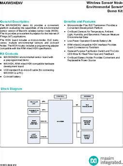 maxim integrated products number of employees maxwsnenv datasheet specifications family evaluation boards sensors