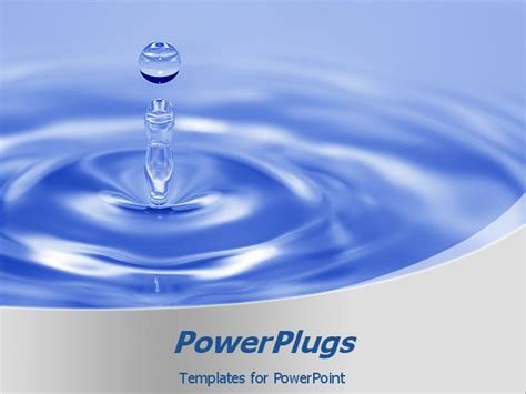water powerpoint template lose up of water drop ideal template for presentations on