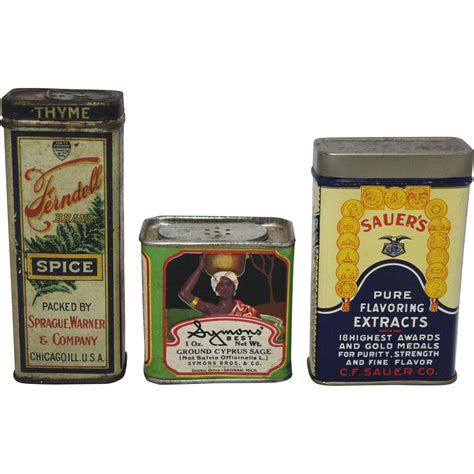 Spice Containers Shopping Vintage Shop Spice Container