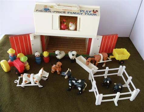 Vintage Fisher Price Barn And Silo With By Urbanrenewaldesigns Fisher Price Barn Door