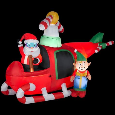 home depot inflatable outdoor christmas decorations santa helicopter outdoor inflatables christmas wikii