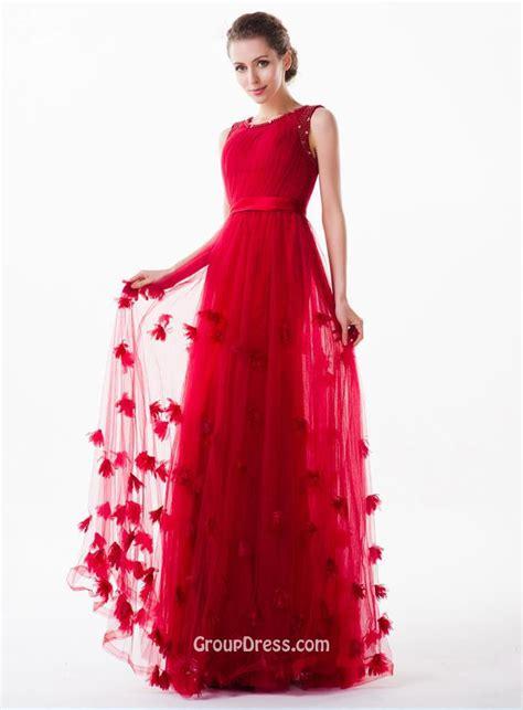 Flower Dresses by Boat Neck Sleeveless Flower Beautiful Tulle Prom