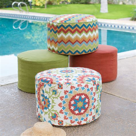 outdoor poufs and ottomans coral coast cantara 25 in outdoor pouf outdoor