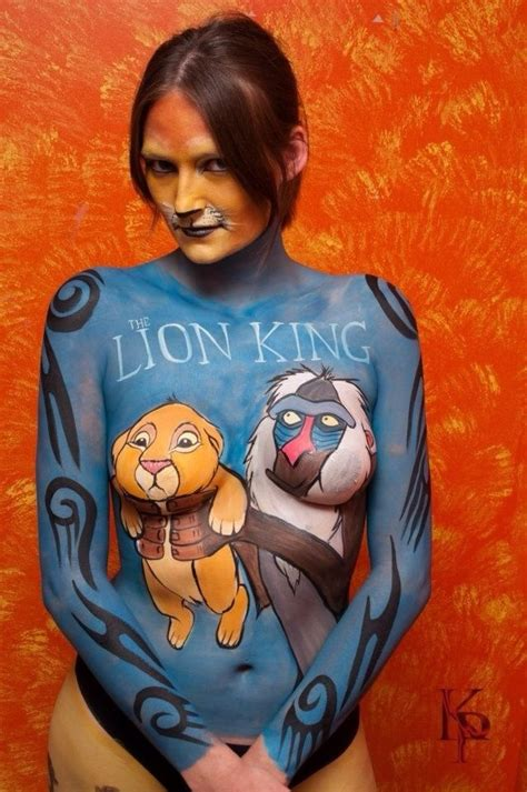 the lion king bodypainting mandi ilene