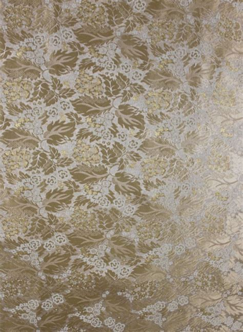 vintage floral upholstery fabric 5 1 2 yds gold brocatelle fabric upholstery french